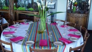 Круглая скатерть на стол для кухни