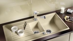 Особенности мойки для кухни из гранита, керамогранита и керамики