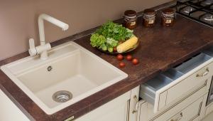 Размеры угловых моек для кухни