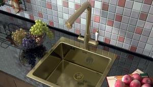 Смеситель для кухни из бронзы