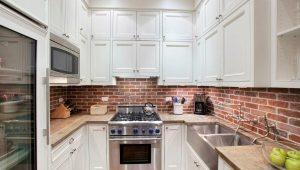 """Стеновая панель """"под кирпич"""" для кухни"""