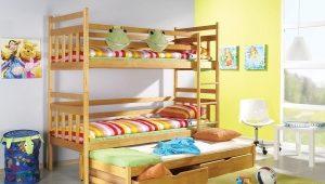 Трехъярусная кровать для детей