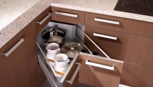 Тумба для кухни с выдвижными ящиками