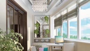 Варианты офрмления балкона в различных стилях
