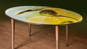 Выбираем цвет стеклянного стола для кухни