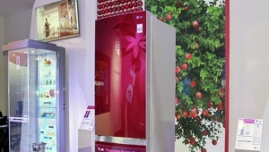 Холодильник LG с цветами