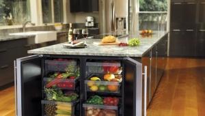 Холодильник, встраиваемый под столешницу