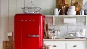 Холодильники красного цвета