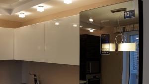 Зеркальный холодильник