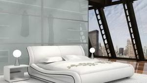 Белые двуспальные кровати