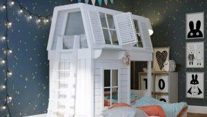 Двухъярусная кровать-домик