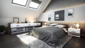 Красивый дизайн спальни в частном доме