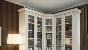 Белые книжные шкафы