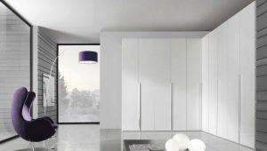 Белые угловые шкафы