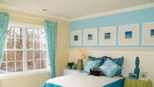 Голубые шторы