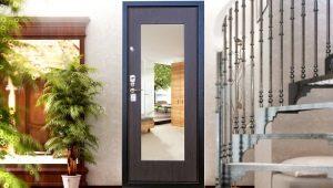 Металлические двери с зеркалом