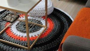 Вязаные коврики в интерьере: как правильно выбрать?
