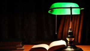 Зеленые настольные лампы