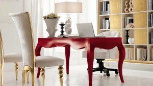 Классический письменный стол в интерьере