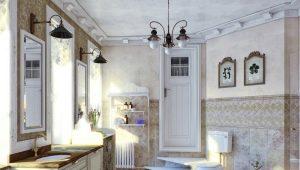 Люстры в ванную комнату