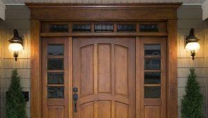 Утепленные входные деревянные двери