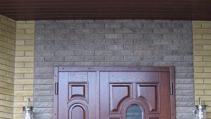 Входные металлические двухстворчатые двери