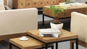 Журнальный столик в стиле «лофт»