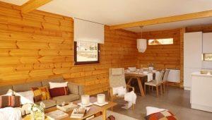 Красивые идеи оформления интерьера домов из бруса