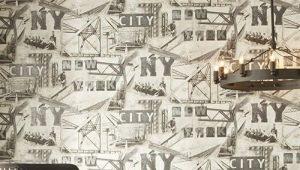 Обои York: дизайн в интерьере