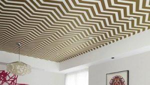 Правила и рекомендации поклейки обоев на потолок