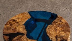 Стол из эпоксидной смолы - необычная деталь интерьера