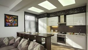 Барные стойки в дизайне интерьера гостиной комнаты