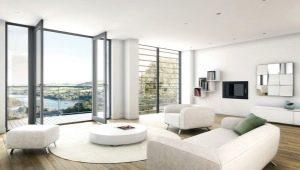 Белая гостиная: красивые варианты оформления интерьера