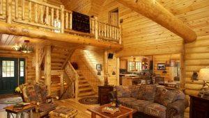Интерьер деревянного дома под «старину» и другие стильные решения