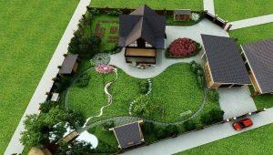Схемы планировки дачного участка площадью 10 соток