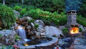 Водопады в ландшафтном дизайне: виды и отличительные черты
