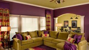 Выбираем цвет стен в гостиной: красивые сочетания
