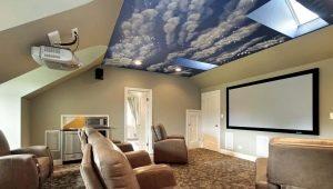 Натяжной потолок «Небо»: варианты в интерьере