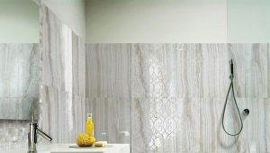 Плитка под мрамор в дизайне интерьера