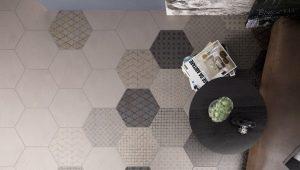 Шестигранная напольная плитка: интересные идеи оформления интерьера