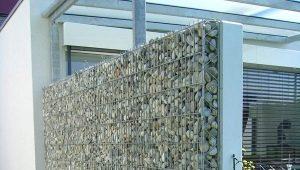 Забор из габионов: особенности конструкций