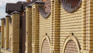 Заборы из кирпича для частных домов