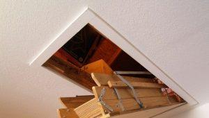 Чердачная лестница с люком: плюсы и минусы