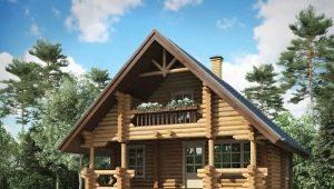 Дома из бруса с мансардой: варианты проектов