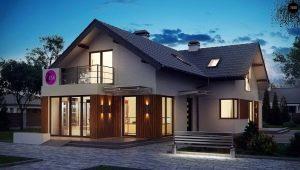 Двухэтажный дом с мансардой: красивые примеры и проекты
