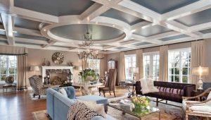 Фигурные потолки: современные идеи для оформления интерьера