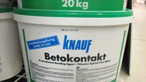 """Грунтовка """"Бетоноконтакт"""" от фирмы Knauf: технические характеристики"""