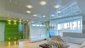 Лампочки для натяжных потолков: виды освещения и варианты дизайна