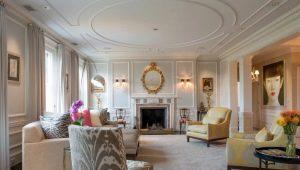 Молдинги на потолке: особенности дизайна интерьера