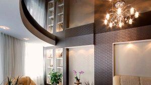Монтаж двухуровневых потолков из гипсокартона с подсветкой